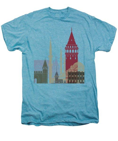Istanbul Skyline Poster Men's Premium T-Shirt by Pablo Romero