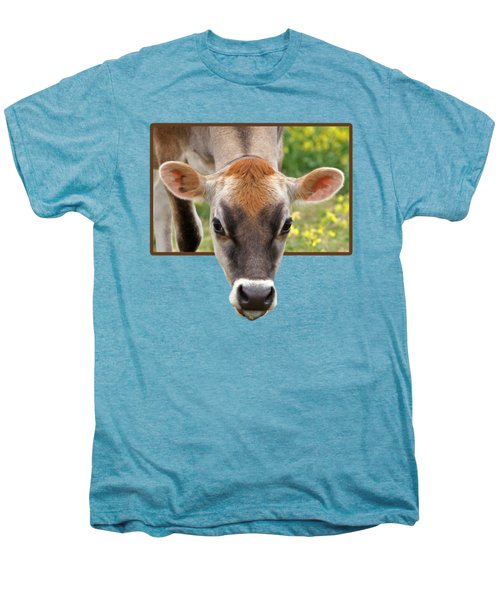 Jersey Fields Of Gold Men's Premium T-Shirt by Gill Billington