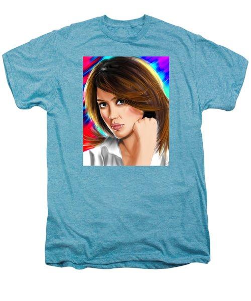 Jessica Alba Men's Premium T-Shirt by Isaac Martinez