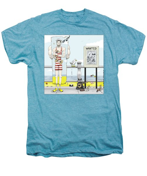 Jim - On The Run Men's Premium T-Shirt by Kris Burton-Shea
