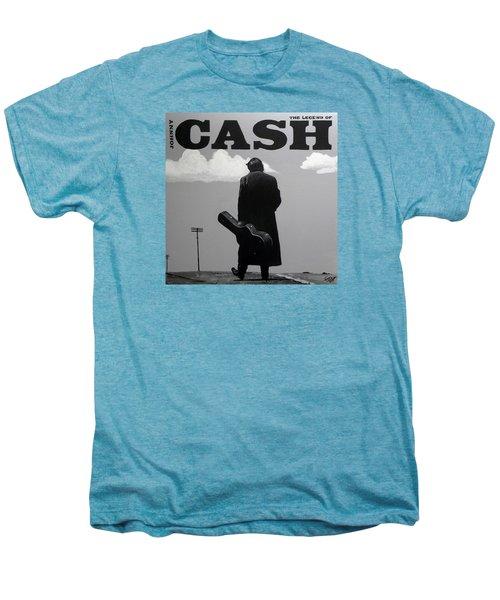 Johnny Cash Men's Premium T-Shirt by Tom Carlton