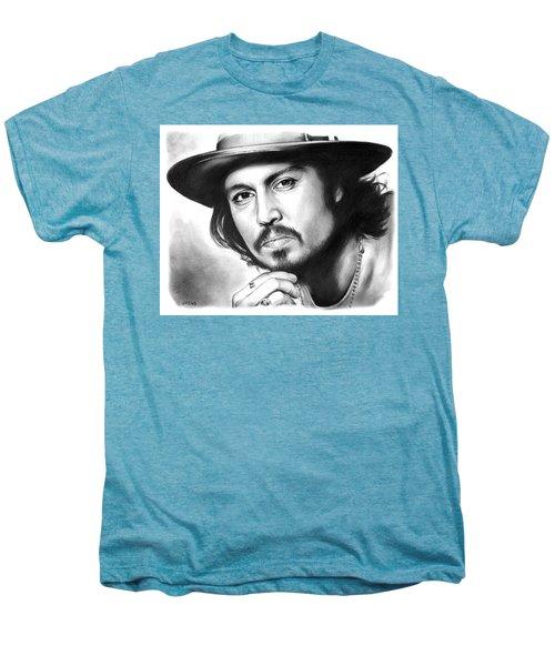 Johnny Depp Men's Premium T-Shirt by Greg Joens