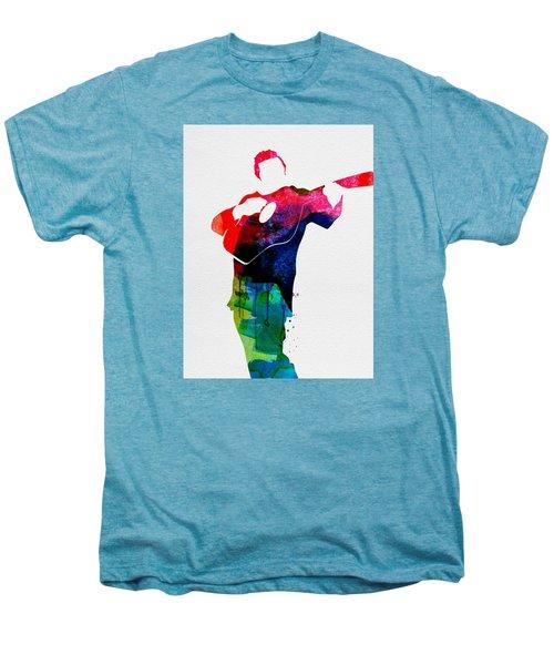 Johnny Watercolor Men's Premium T-Shirt by Naxart Studio