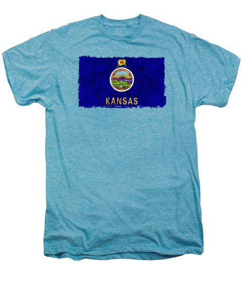 Kansas Flag Men's Premium T-Shirt by World Art Prints And Designs