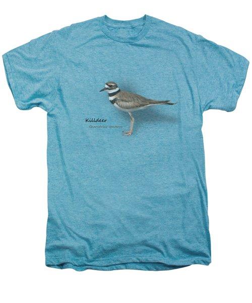Killdeer - Charadrius Vociferus - Transparent Design Men's Premium T-Shirt by Mitch Spence