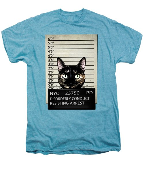 Kitty Mugshot Men's Premium T-Shirt by Nicklas Gustafsson