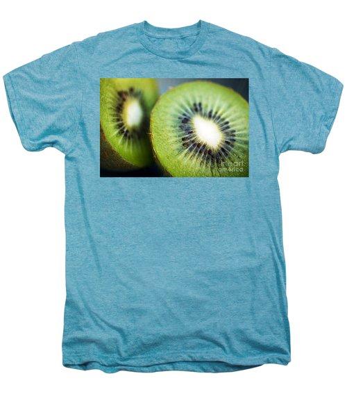 Kiwi Fruit Halves Men's Premium T-Shirt by Ray Laskowitz - Printscapes