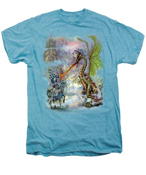 Knights N Dragons Men's Premium T-Shirt by Kevin Middleton