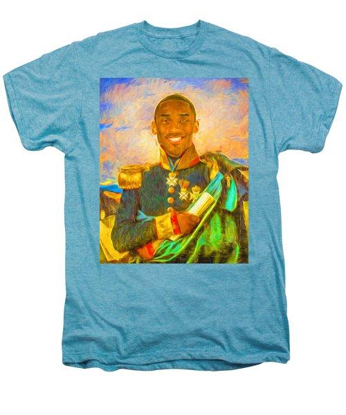 Kobe Bryant Floor General Digital Painting La Lakers Men's Premium T-Shirt by David Haskett