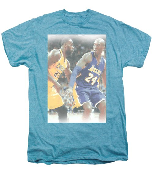 Kobe Bryant Lebron James 2 Men's Premium T-Shirt by Joe Hamilton