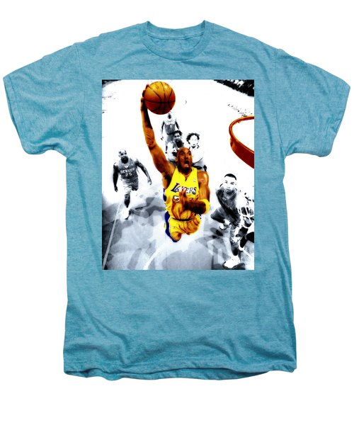 Kobe Bryant Took Flight Men's Premium T-Shirt by Brian Reaves