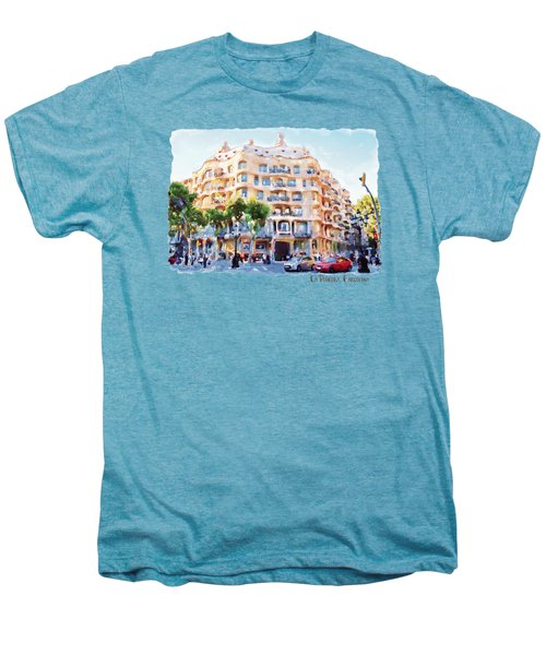 La Pedrera Barcelona Men's Premium T-Shirt by Marian Voicu