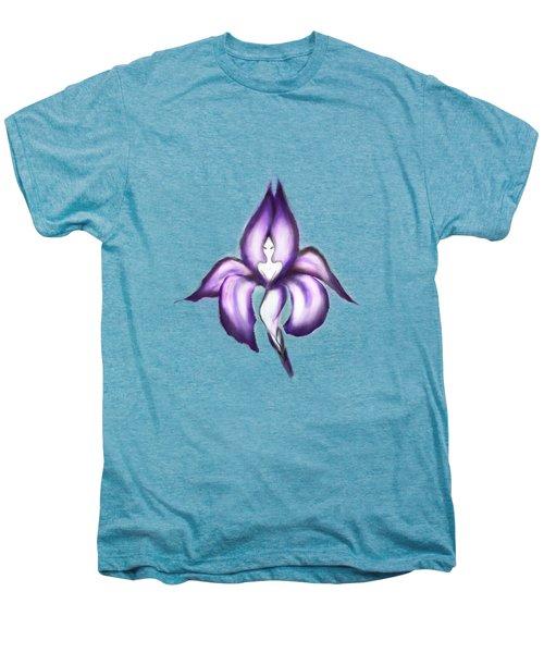 Lady Iris Men's Premium T-Shirt by Awen Fine Art Prints