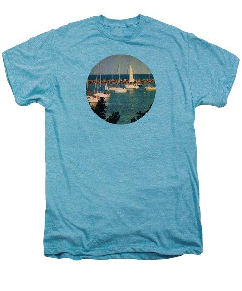 Lake Michigan Sailboats Men's Premium T-Shirt by Mary Wolf