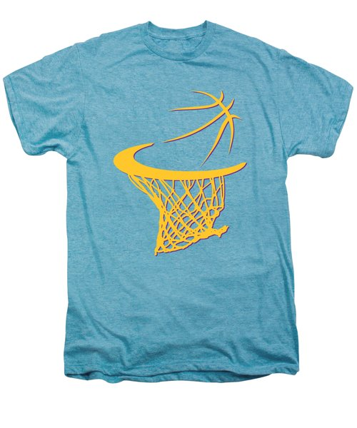 Lakers Basketball Hoop Men's Premium T-Shirt by Joe Hamilton