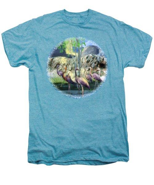 Lakeside View Men's Premium T-Shirt by Sharon and Renee Lozen