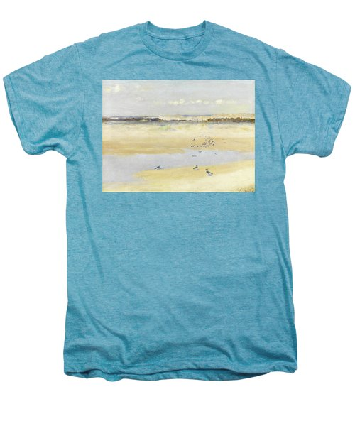 Lapwings By The Sea Men's Premium T-Shirt by William James Laidlay