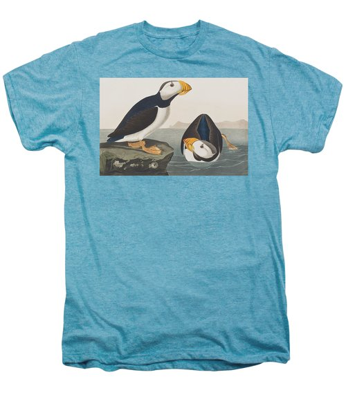 Large Billed Puffin Men's Premium T-Shirt by John James Audubon