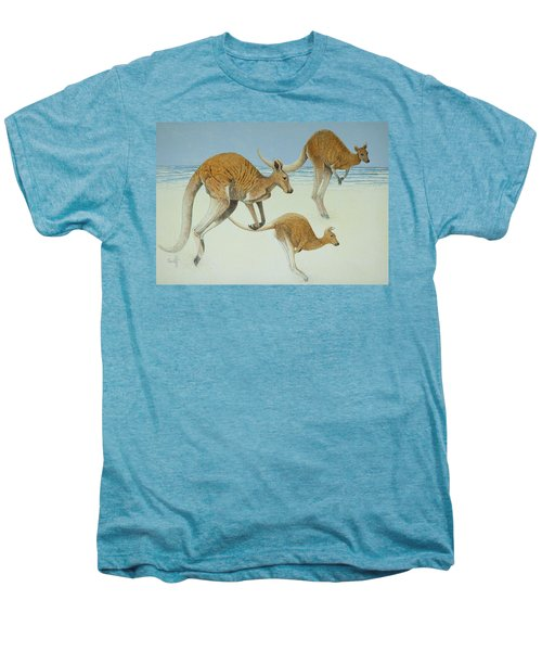 Leaping Ahead Men's Premium T-Shirt by Pat Scott