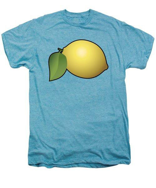 Lemon Fruit Outlined Men's Premium T-Shirt by Miroslav Nemecek