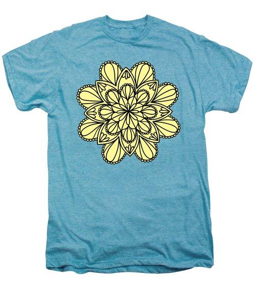 Lemon Lily Mandala Men's Premium T-Shirt by Georgiana Romanovna