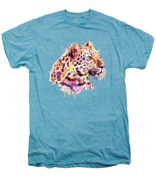 Leopard Head Men's Premium T-Shirt by Marian Voicu