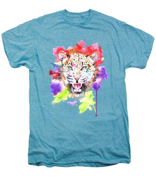 Leopard Men's Premium T-Shirt by Isabel Salvador