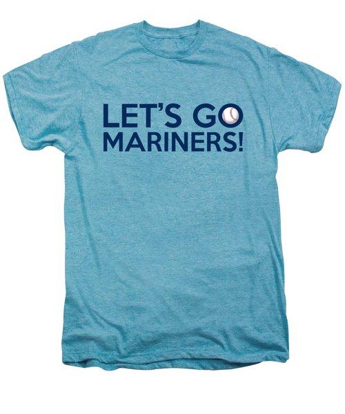 Let's Go Mariners Men's Premium T-Shirt by Florian Rodarte