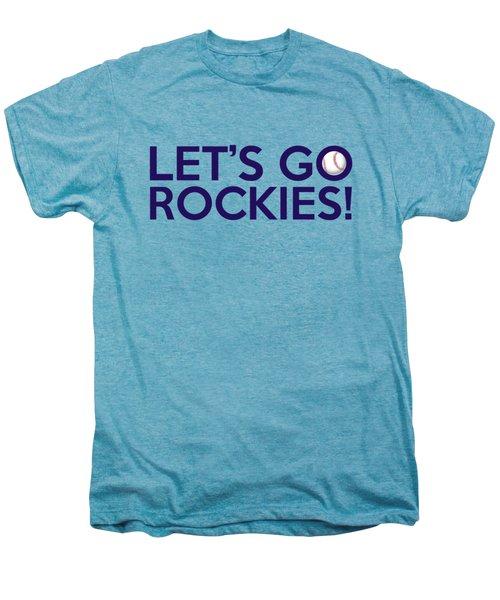 Let's Go Rockies Men's Premium T-Shirt by Florian Rodarte