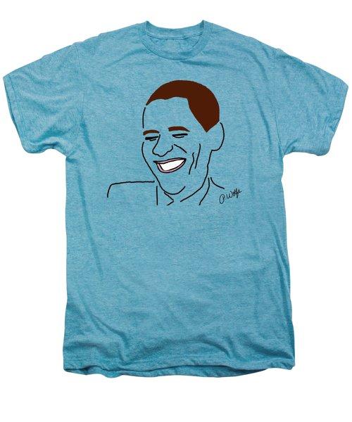Line Art Man Men's Premium T-Shirt by Priscilla Wolfe