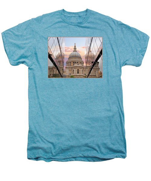 London Awakes - St. Pauls Cathedral Men's Premium T-Shirt by Gill Billington