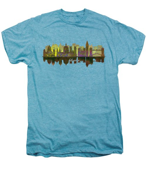 London England Skyline In Golden Light Men's Premium T-Shirt by John Groves