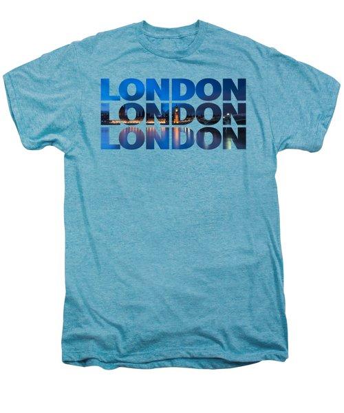 London Text Men's Premium T-Shirt by Matt Malloy