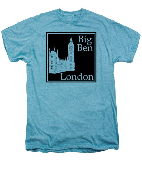 London's Big Ben In Black Men's Premium T-Shirt by Custom Home Fashions