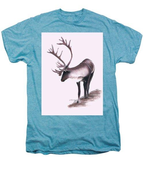 Lone Caribou Men's Premium T-Shirt by Jane M Lucas