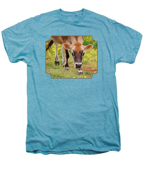 Look Into My Eyes - Painterly Men's Premium T-Shirt by Gill Billington