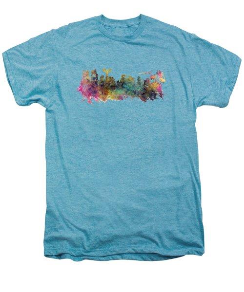 Los Angeles Skyline Men's Premium T-Shirt by Justyna JBJart