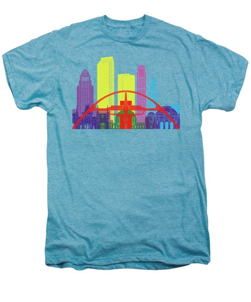 Los Angeles Skyline Pop Men's Premium T-Shirt by Pablo Romero