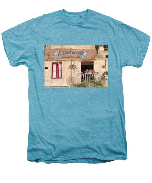 Luciano's Pizza Men's Premium T-Shirt by Jon Delorme