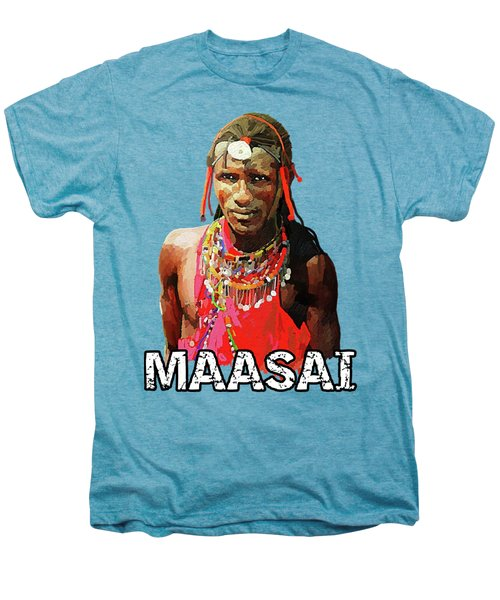Maasai Moran Men's Premium T-Shirt by Anthony Mwangi