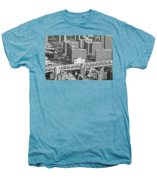 Mannhattan Bridge No. 46-1 Men's Premium T-Shirt by Sandy Taylor