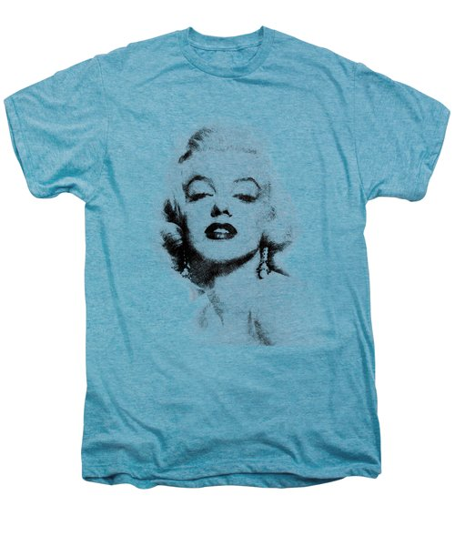 Marilyn Monroe Portrait 02 Men's Premium T-Shirt by Pablo Romero