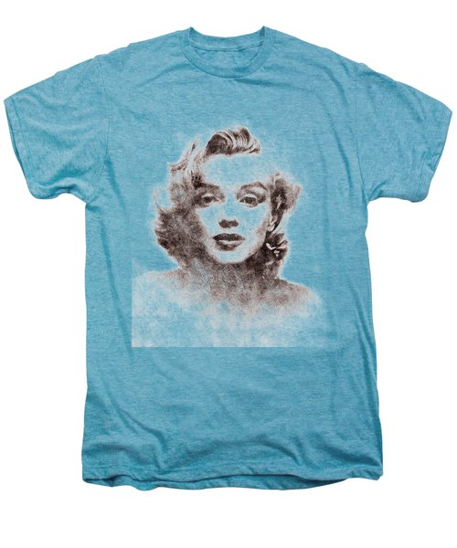 Marilyn Monroe Portrait 04 Men's Premium T-Shirt by Pablo Romero