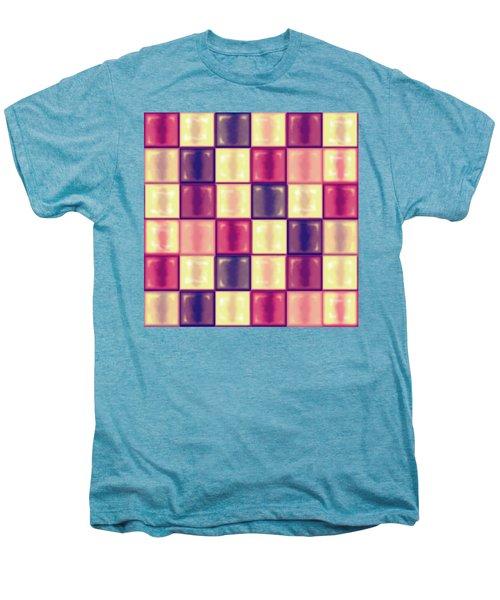 Marsala Ceramic Tiles - Square Men's Premium T-Shirt by Shelly Weingart
