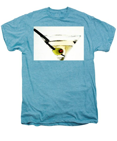 Martini With Green Olive Men's Premium T-Shirt by Sharon Cummings