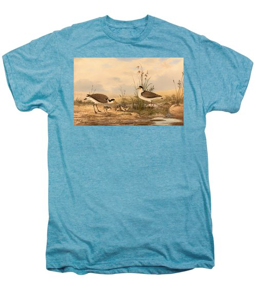 Masked Lapwing Men's Premium T-Shirt by Mountain Dreams