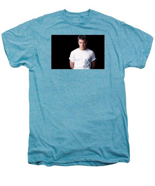 Matt Damon Men's Premium T-Shirt by Iguanna Espinosa
