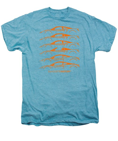 Mcsportscar Silhouettehistory Men's Premium T-Shirt by Gabor Vida
