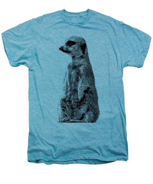 Meerkat Etching Men's Premium T-Shirt by Greg Noblin