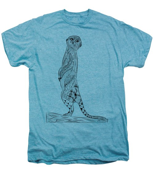 Meerkat Men's Premium T-Shirt by Serkes Panda